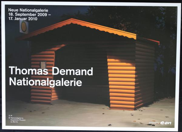 Thomas Demand Nationalgalerie Ausstellungsplakat, 2009 (Haltestelle)