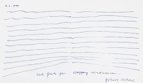 Gerhard Richter. Originalzeichnung, 1998