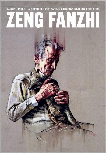 Zeng Fanzhi. Ausstellungsplakat, 2011, signiert