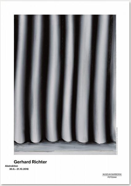 Gerhard Richter.Abstraktion, 2018 Plakat (Vorhang)