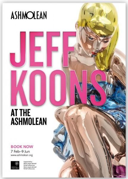 Jeff Koons. Exhibition Poster Ashmolean, 2019