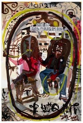 Jonathan Meese und Herbert Volkmann. ohne Titel (DEIN SOLARISMAUL) 2001-2002 . Plakatedition, signie