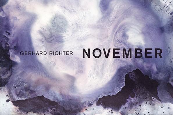Gerhard Richter. November. Künstlerbuch, 2013. nummeriert und signiert