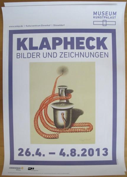 """Konrad Klapheck. Ausstellungsplakat """"Bilder und Zeichnungen"""", 2013 signiert"""