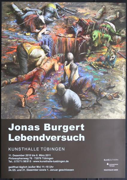 Jonas Burgert. Ausstellungsplakat. Lebendversuch, 2011