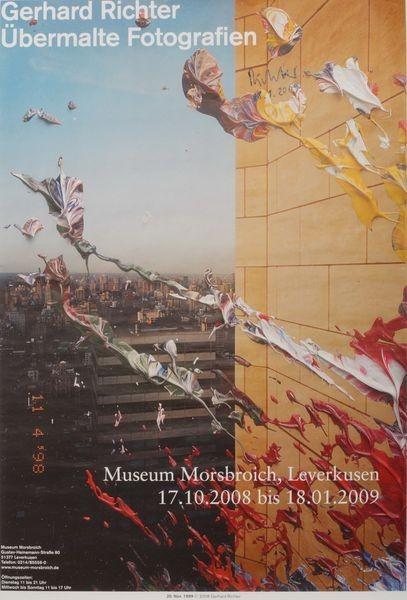 Gerhard Richter. Übermalte Fotografien, 2008/2009. Plakat signiert