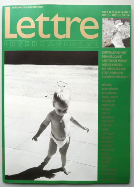 """Gerhard Richter. Zeitschrift """"Lettre International"""" 035, Winter 1996"""