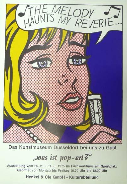 Roy Lichtenstein. Was ist Pop – Art? 1975. Ausstellungsplakat