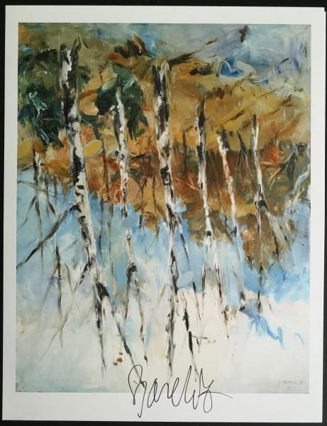Georg Baselitz. Kunstdruck (4), signiert