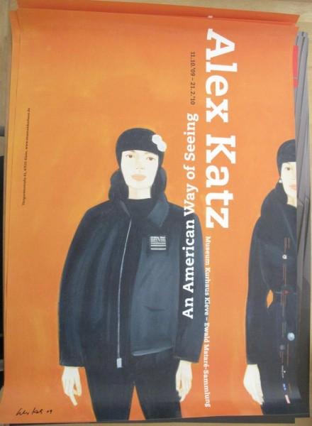 "Alex Katz. Ausstellungsplakat ""An American Way of Seeing"", 2009. signiert"