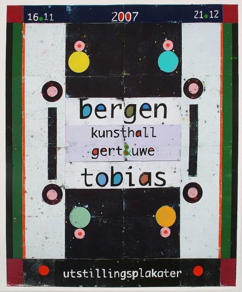 Gert & Uwe Tobias. Ausstellungsplakat, Bergen Kunsthalle, 2007