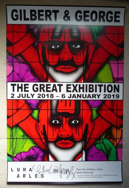 Gilbert & George. Poster The Great Exhibition, Luma Arles, 2018 signiert (2)