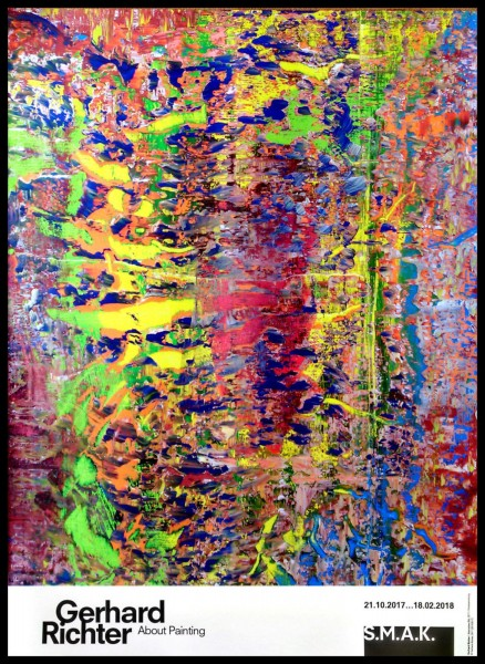 Gerhard Richter. Abstraktes Bild 2017 Plakat SMAK Gent, 2017