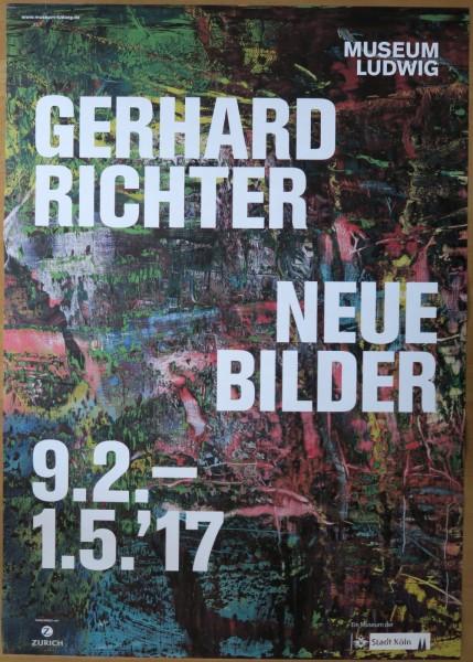 Gerhard Richter. Neue Bilder, 2017 Ausstellungsplakat Köln