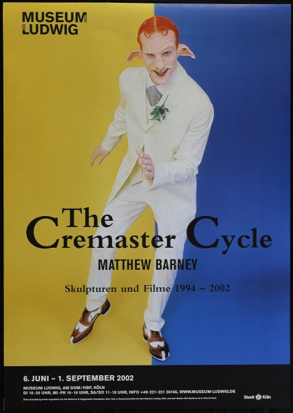 Matthew Barney. The Cremaster Cycle, 2002 Ausstellungsplakat