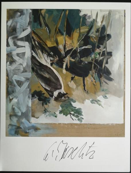 Georg Baselitz. Kunstdruck (6), signiert
