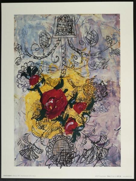 Georg Baselitz. Kunstdruck (1), signiert