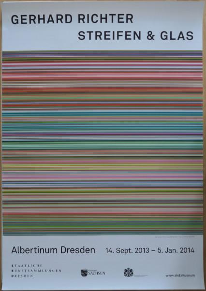 Gerhard Richter. Streifen & Glas. Ausstellungsplakat, 2013