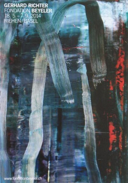 Gerhard Richter. Fondation Beyeler, 2014 Ausstellungsplakat (Wald)