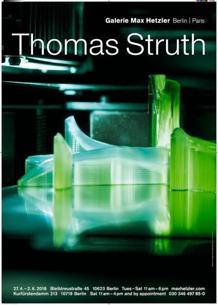 Thomas Struth. Ausstellungsplakat Galerie Max Hetzler, 2018