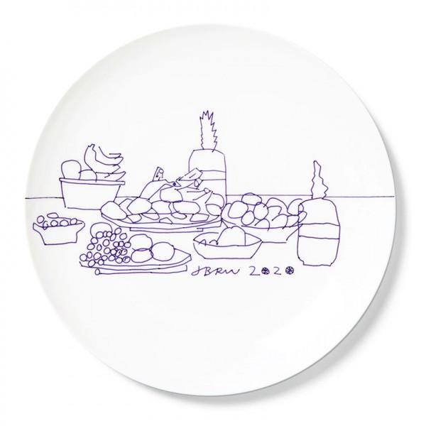 Jonas Wood. Fruit Plate, 2020. Plate