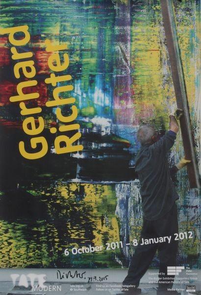 Gerhard Richter. Tate modern, 2011. Plakat signiert