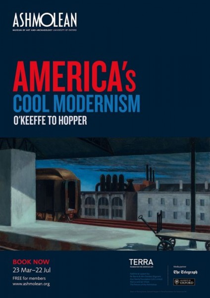 Edward Hopper. Exhibition Poster America's Cool Modernismism, 2018