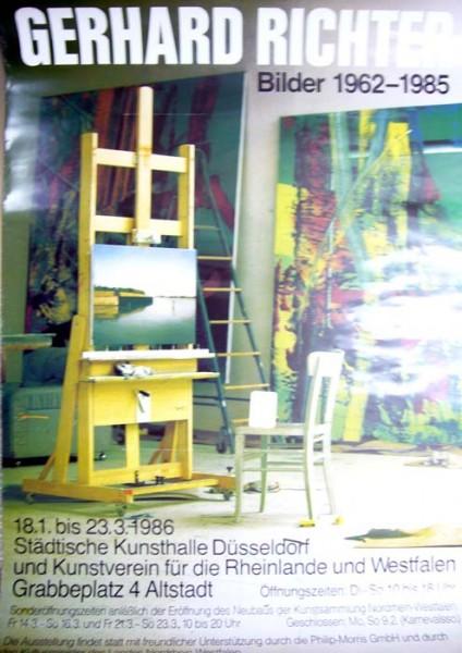 Gerhard Richter..Bilder 1962 – 1985, 1986. Ausstellungsplakat