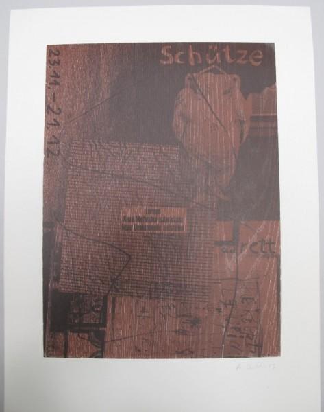 Albert Oehlen.Untitled (Schütze), 1985
