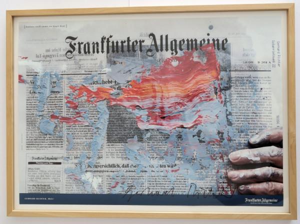 Gerhard Richter. Plakat FAZ, signiert