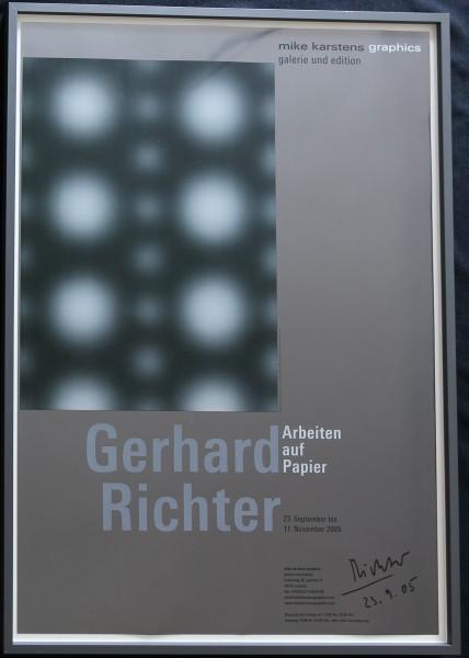 Gerhard Richter - Arbeiten auf Papier, Mike Karstens signiert