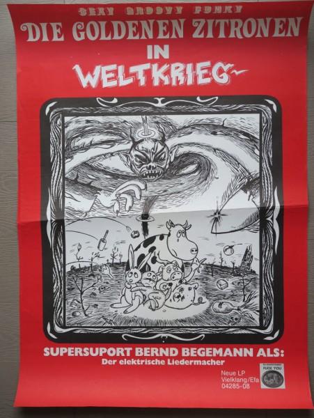 """Daniel Richter. Plakat """"Die goldenen Zitronen in Weltkrieg"""""""