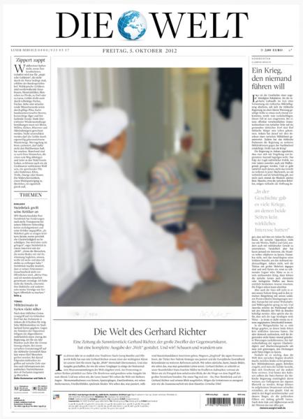 Gerhard Richter. Sammleredition DIE WELT vom 5. Oktober 2012, signiert