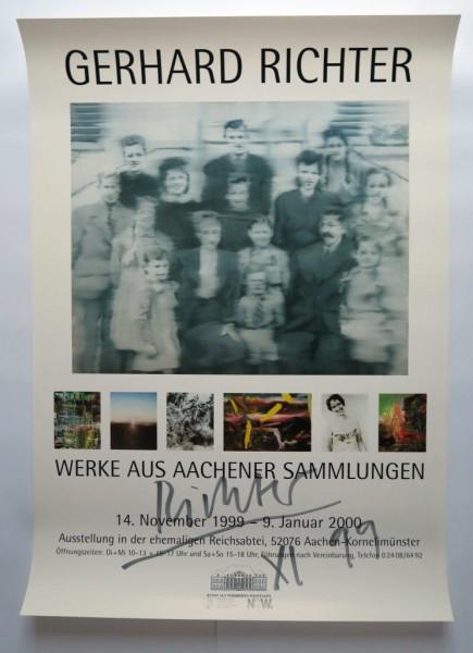 Gerhard Richter. WERKE AUS AACHENER SAMMLUNGEN, 1999 signiert (mit Text)