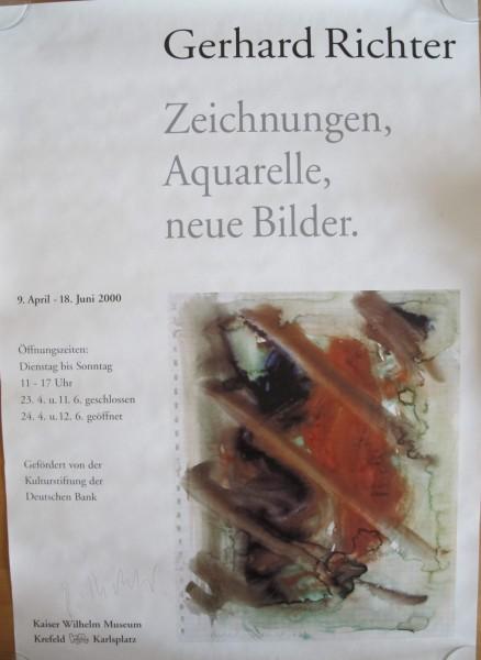 Gerhard Richter. Ausstellungsplakat, Krefeld, 2000, signiert