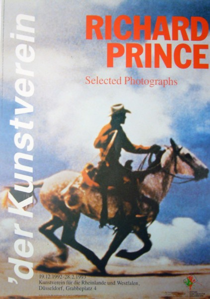 Richard Prince. Selected Photograph, 1992. Ausstellungsplakat