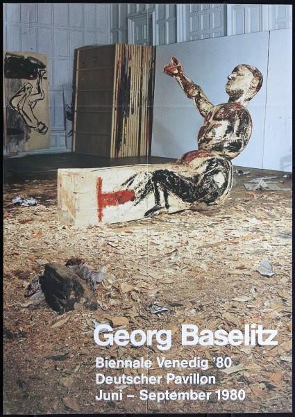 Georg Baselitz. Bienale Venedig, 1980 Ausstellungsplakat