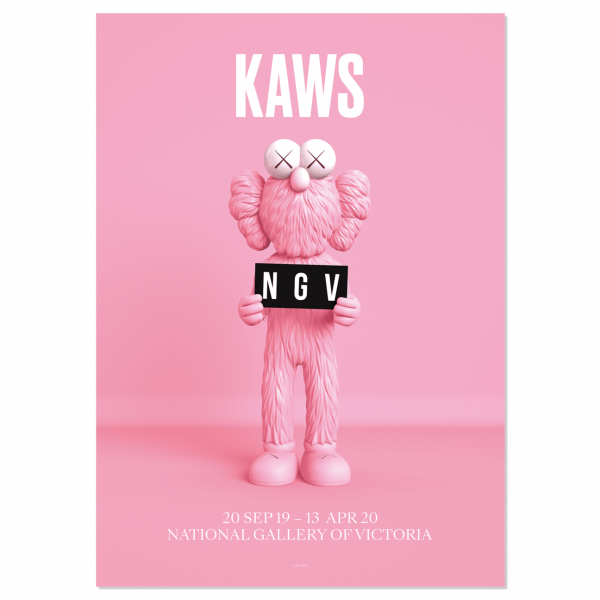KAWS. Poster BFF Pink, 2019