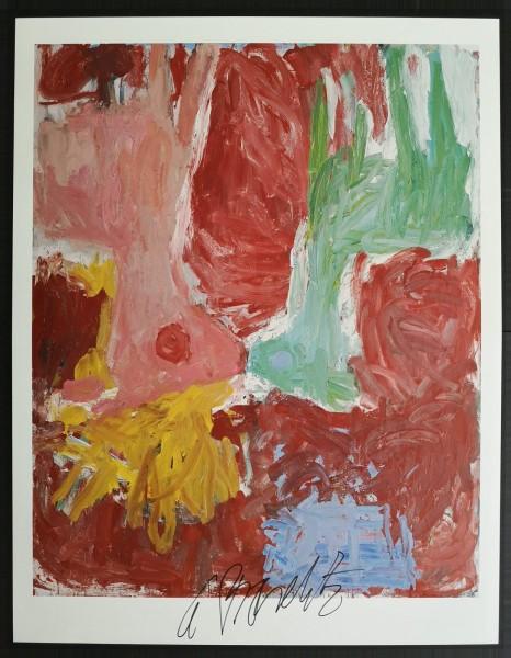 Georg Baselitz. Kunstdruck (2), signiert