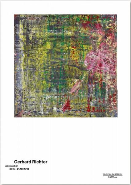 Gerhard Richter.Abstraktion, 2018 Plakat (ABSTRAKTES BILD (952-2) )