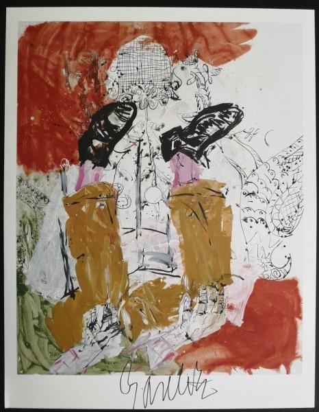 Georg Baselitz. Kunstdruck (3), signiert