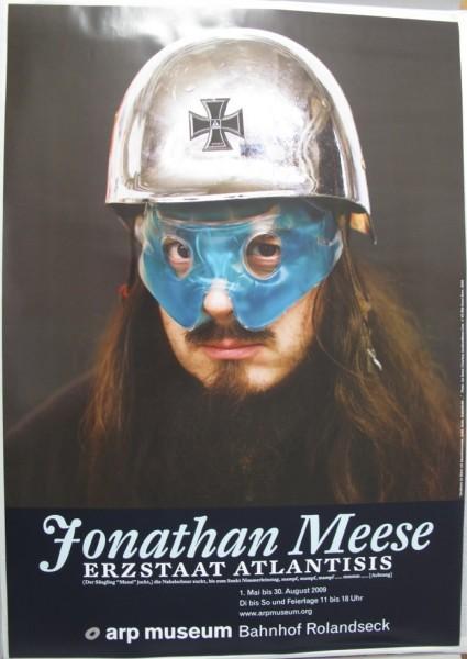 Jonathan Meese. Erzstaat Atlantisis, 2009. Ausstellungsplakat