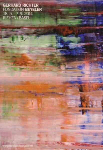 Gerhard Richter. Fondation Beyeler, 2014 Ausstellungsplakat (Bach)
