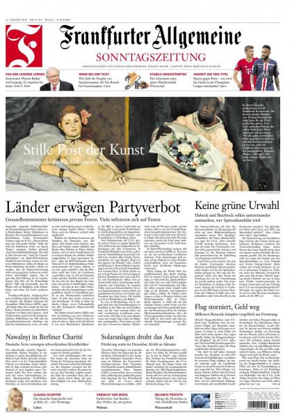 Frankfurter Allgemeine Sonntagszeitung vom 23.08.2020
