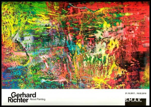 Gerhard Richter. Abstraktes Bild quer Plakat SMAK Gent, 2017-Copy