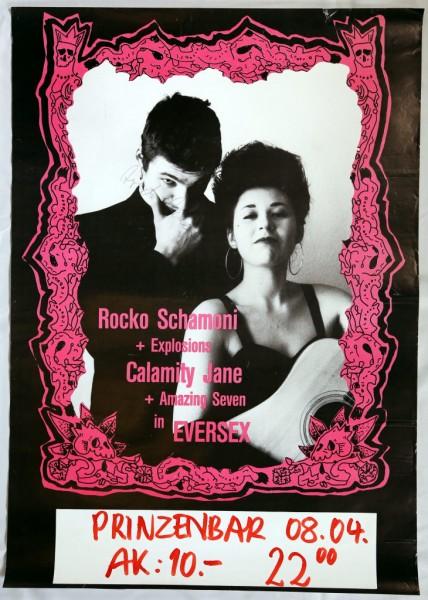 Daniel Richter. Konzertplakat SCHAMONI, ROCKO - CALAMITY JANE - Eversex