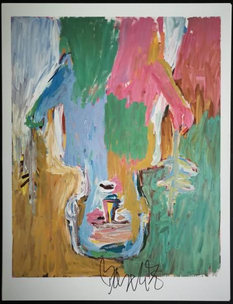 Georg Baselitz. Kunstdruck (5), signiert