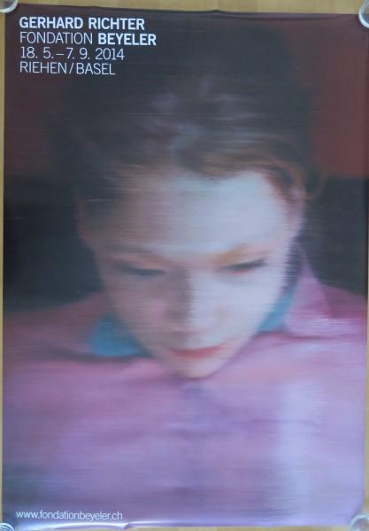 Gerhard Richter. Fondation Beyeler, 2014 Ausstellungsplakat (Ella)