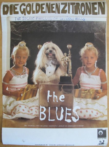 Daniel Richter. Tourplakat the BLUES - Die goldenen Zitronen