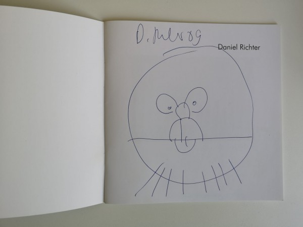 Daniel Richter. Kunstpreis Finkenwerder 2009. Ausstellungskatalog signiert mit Zeichnung
